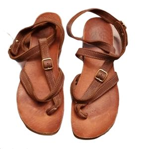 Roots Leather Strappy Sandals